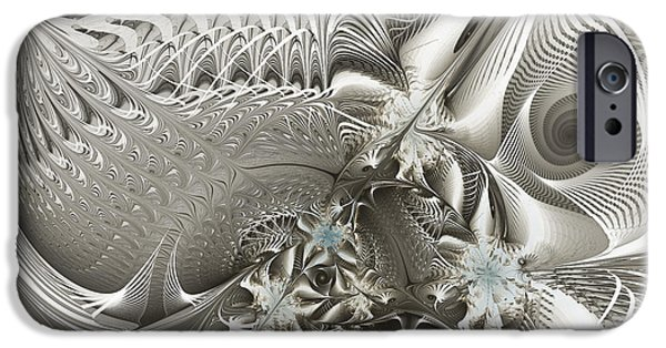 Three Sizes iPhone Cases - Utopia-Fractal Art iPhone Case by Karin Kuhlmann