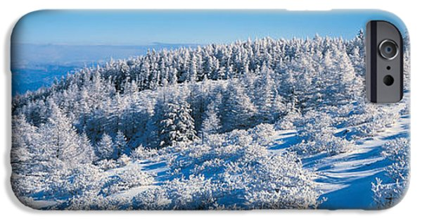 Snowy Day iPhone Cases - Utsukushigahara Nagano Japan iPhone Case by Panoramic Images