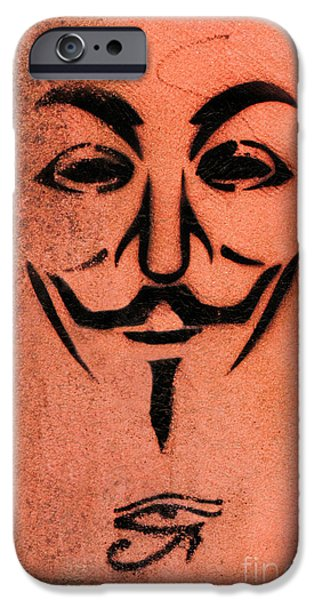 Horus iPhone Cases - V for vendetta iPhone Case by Gillian Singleton