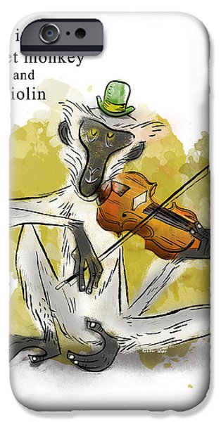 Animal Alphabet iPhone Cases - V is for Vervet Monkey iPhone Case by Sean Hagan