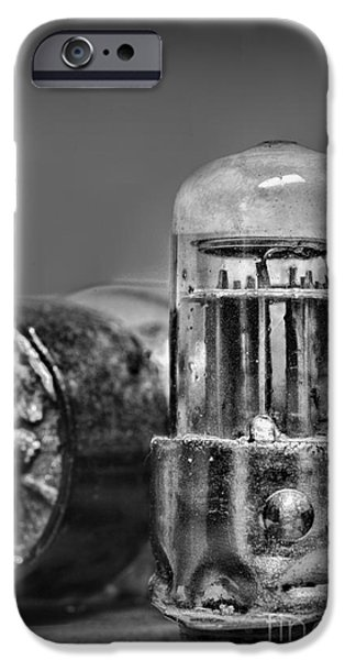 Electronic iPhone Cases - Vacuum Tube - black and white iPhone Case by Paul Ward
