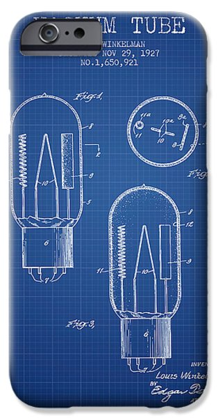 Electric Current iPhone Cases - Vacuum Tube Patent From 1927 - Blueprint iPhone Case by Aged Pixel