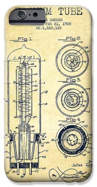 Electron iPhone Cases - Vacuum Tube Patent From 1928 - Vintage iPhone Case by Aged Pixel