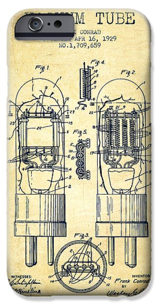 Electron iPhone Cases - Vacuum Tube Patent From 1929 - Vintage iPhone Case by Aged Pixel
