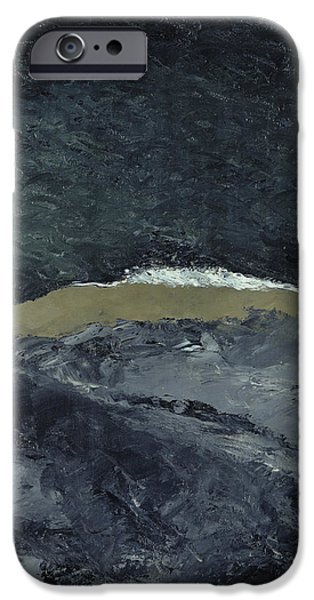 Abstract Expressionist iPhone Cases - Vague VII iPhone Case by August Johan Strindberg