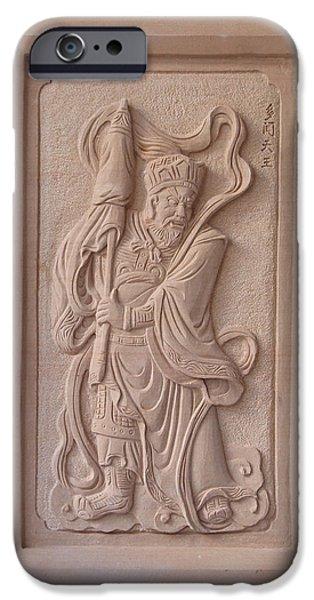 Ancient Reliefs iPhone Cases - Vaisravana iPhone Case by Terrell Kaucher