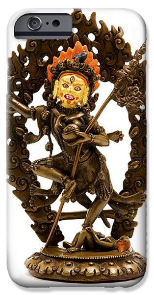 Buddhism Photographs iPhone Cases - Vajrayogini iPhone Case by Fabrizio Troiani