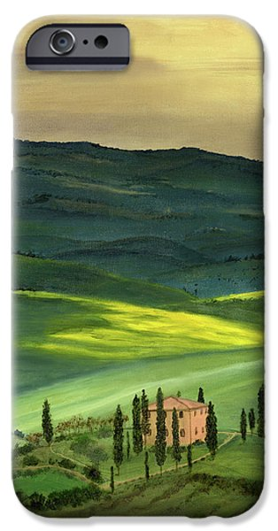 Cecilia iPhone Cases - Val d II iPhone Case by Cecilia  Brendel