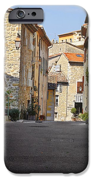 Interior Scene iPhone Cases - Valbonne - French village of contradictions iPhone Case by Christine Till