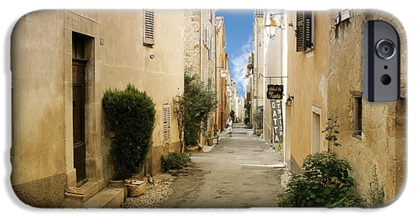 Interior Scene iPhone Cases - Valbonne - History and charm  iPhone Case by Christine Till