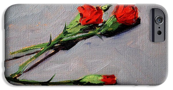 Business Paintings iPhone Cases - Valentine iPhone Case by Nancy Merkle