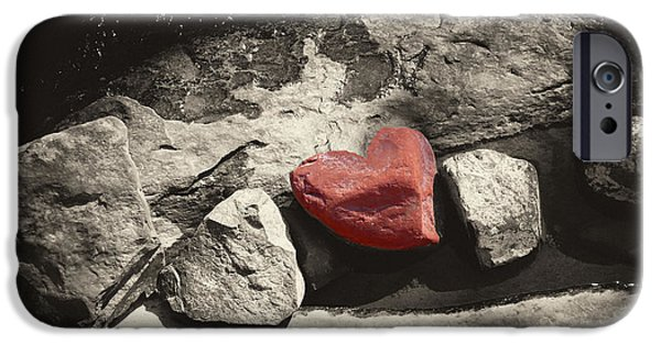 Oak Creek Digital Art iPhone Cases - Valentine Rock iPhone Case by Ron Regalado