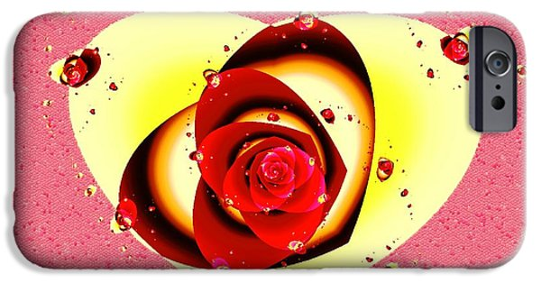 Decor iPhone Cases - Valentine Rose iPhone Case by Anastasiya Malakhova
