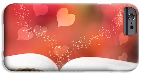 Antiques iPhone Cases - Valentine Story Book iPhone Case by Amanda And Christopher Elwell