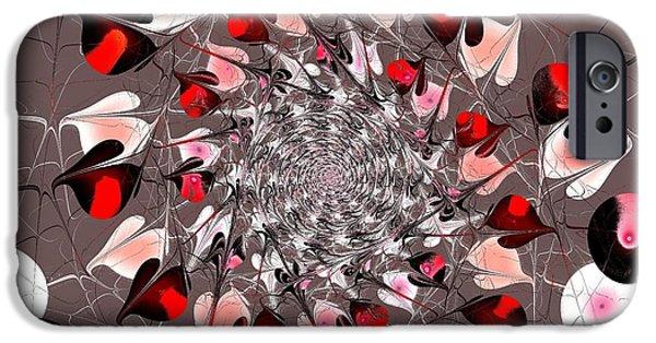 Hearts iPhone Cases - Valentines iPhone Case by Anastasiya Malakhova