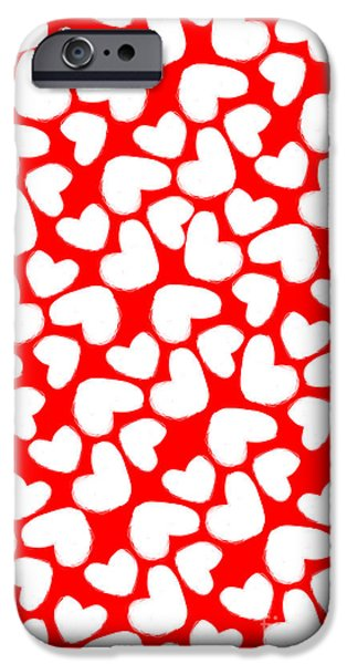 Secret Admirer iPhone Cases - Valentines Day Card iPhone Case by Louisa Knight