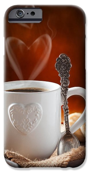 Valentine's Day Coffee iPhone Case by Amanda And Christopher Elwell