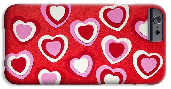 Cutout Photographs iPhone Cases - Valentines day hearts iPhone Case by Elena Elisseeva
