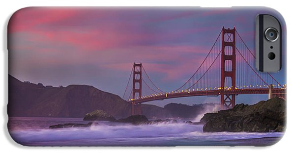 Sf iPhone Cases - Valentines Day Sunset iPhone Case by Jeremy Jensen