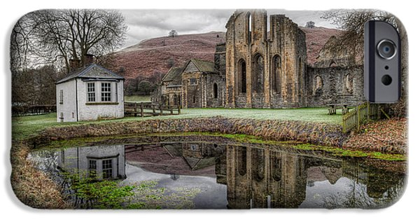 Ruins iPhone Cases - Valle Crucis Abbey iPhone Case by Adrian Evans