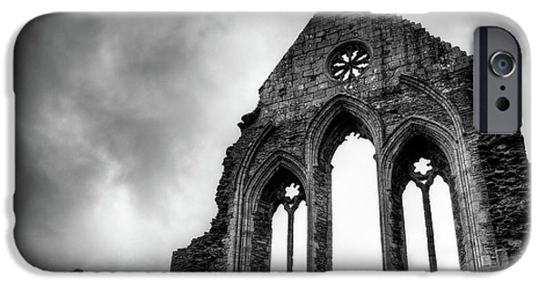 Eerie iPhone Cases - Valle Crucis Abbey iPhone Case by Dave Bowman