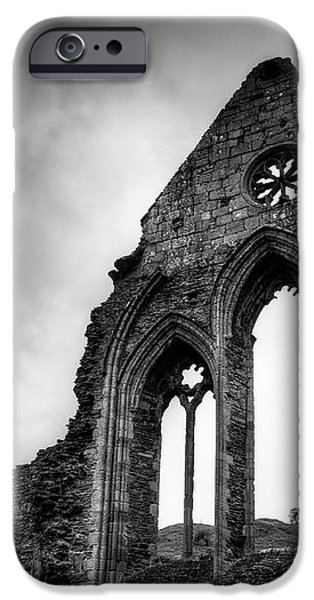 Valle Crucis Abbey iPhone Case by Dave Bowman