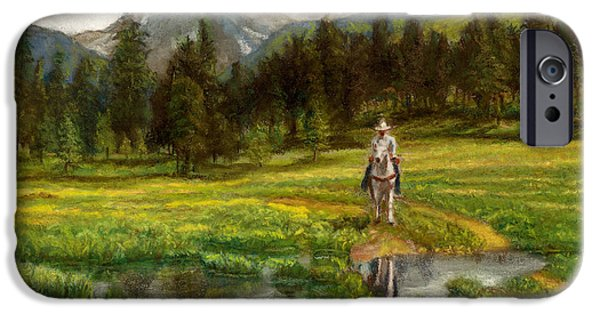 Rain Pastels iPhone Cases - Vallecito Meadows iPhone Case by Harriett Masterson