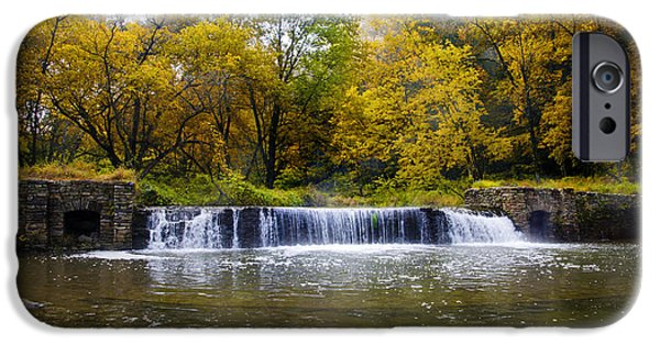 Autumn iPhone Cases - Valley Creek Waterfall in Valley Forge Pa iPhone Case by Bill Cannon