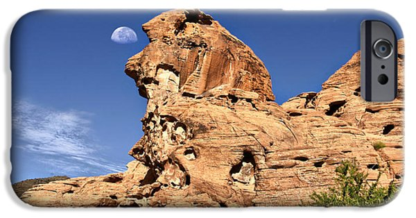 Red Rock iPhone Cases - Valley of Fire 7 aka Pack Man iPhone Case by Mark Baker