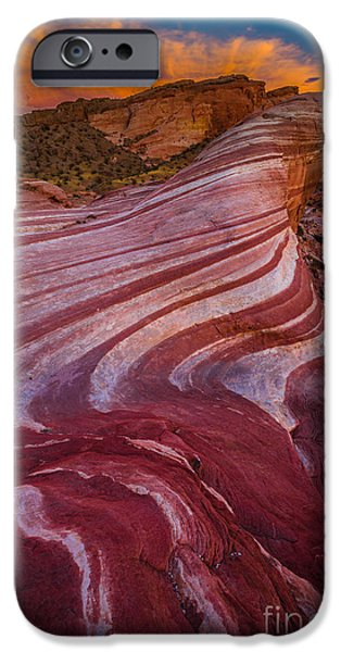 Drama iPhone Cases - Valley of Fire iPhone Case by Inge Johnsson