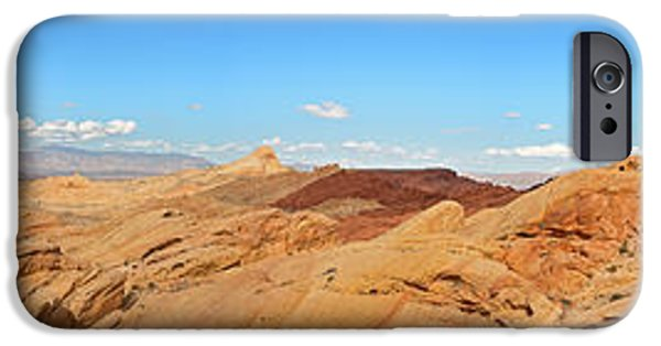 Red Rock iPhone Cases - Valley of Fire pano iPhone Case by Jane Rix