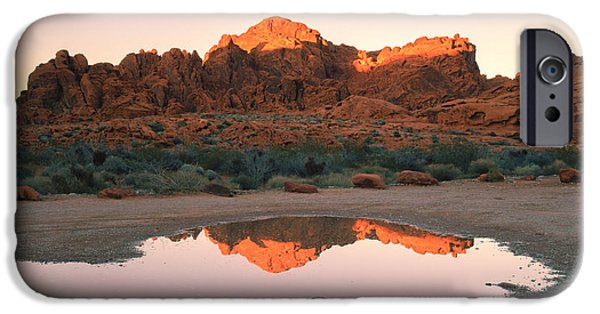 United States iPhone Cases - Valley of Fire Reflections I iPhone Case by Marianne Campolongo