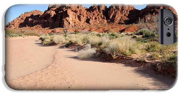 Slickrock iPhone Cases - Valley of Fire Wash iPhone Case by Gary Whitton