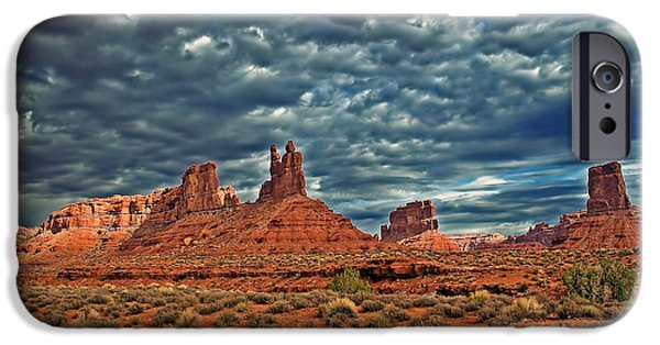 Haybale iPhone Cases - Valley Of The Gods iPhone Case by Robert Bales
