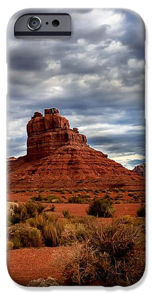 Valley of the Gods Stormy Clouds iPhone Case by Robert Bales