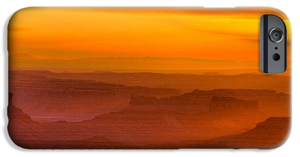 Nation iPhone Cases - Valley of the Gods Sunrise Utah Four Corners Monument Valley II iPhone Case by Silvio Ligutti
