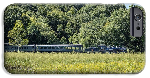 Deep River iPhone Cases - Valley Railroad Pratt Cove iPhone Case by Edward Fielding