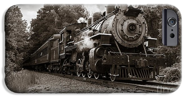 Deep River iPhone Cases - Valley Railroad Steam Train iPhone Case by Edward Fielding