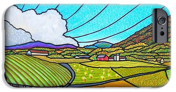 Business Paintings iPhone Cases - Valley View iPhone Case by Jim Harris