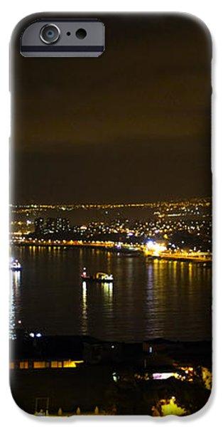Valparaiso Harbor at Night iPhone Case by Kurt Van Wagner