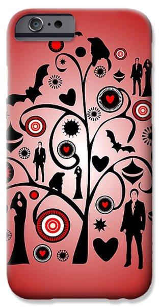 Holidays iPhone Cases - Vampire Art iPhone Case by Anastasiya Malakhova
