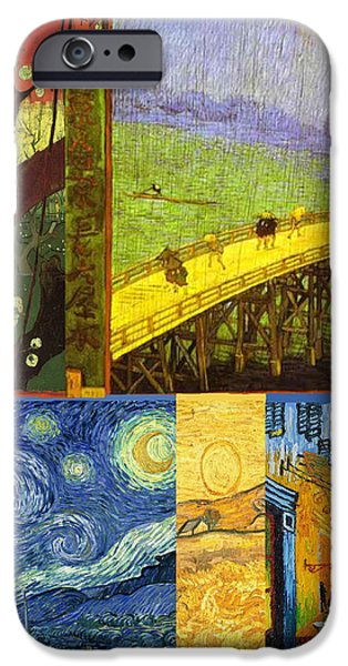Van Gogh Collage iPhone Case by Philip Ralley