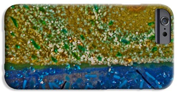 Van Gogh Glass Art iPhone Cases - Van Gogh Go iPhone Case by Cat Christensen