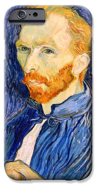 Cora Wandel iPhone Cases - Van Gogh On Van Gogh iPhone Case by Cora Wandel