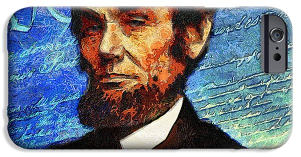 Abraham Lincoln Canvas iPhone Cases - Van Goghs Abraham Lincoln  iPhone Case by Nishanth Gopinathan