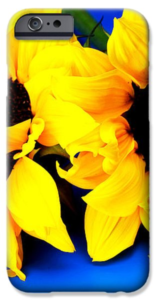 Van Gogh's Sunflower miniature art iPhone Case by Paul Ge