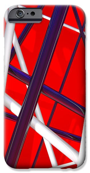 Glam Rock iPhone Cases - Van Halen 3D iphone Cover iPhone Case by Andi Blair