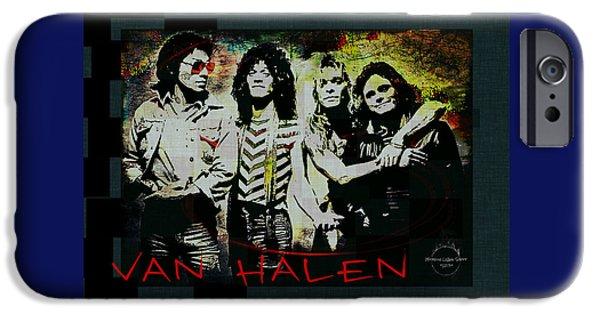 Recently Sold -  - Gray Hair iPhone Cases - Van Halen - Aint Talkin Bout Love iPhone Case by Absinthe Art By Michelle LeAnn Scott