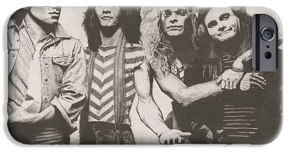 Dave Drawings iPhone Cases - Van Halen iPhone Case by Jeff Ridlen