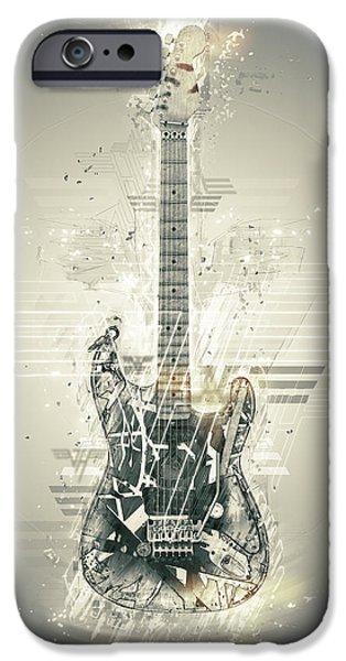 Van Halen iPhone Cases - Van Halens Frankenstrat iPhone Case by Taylan Soyturk